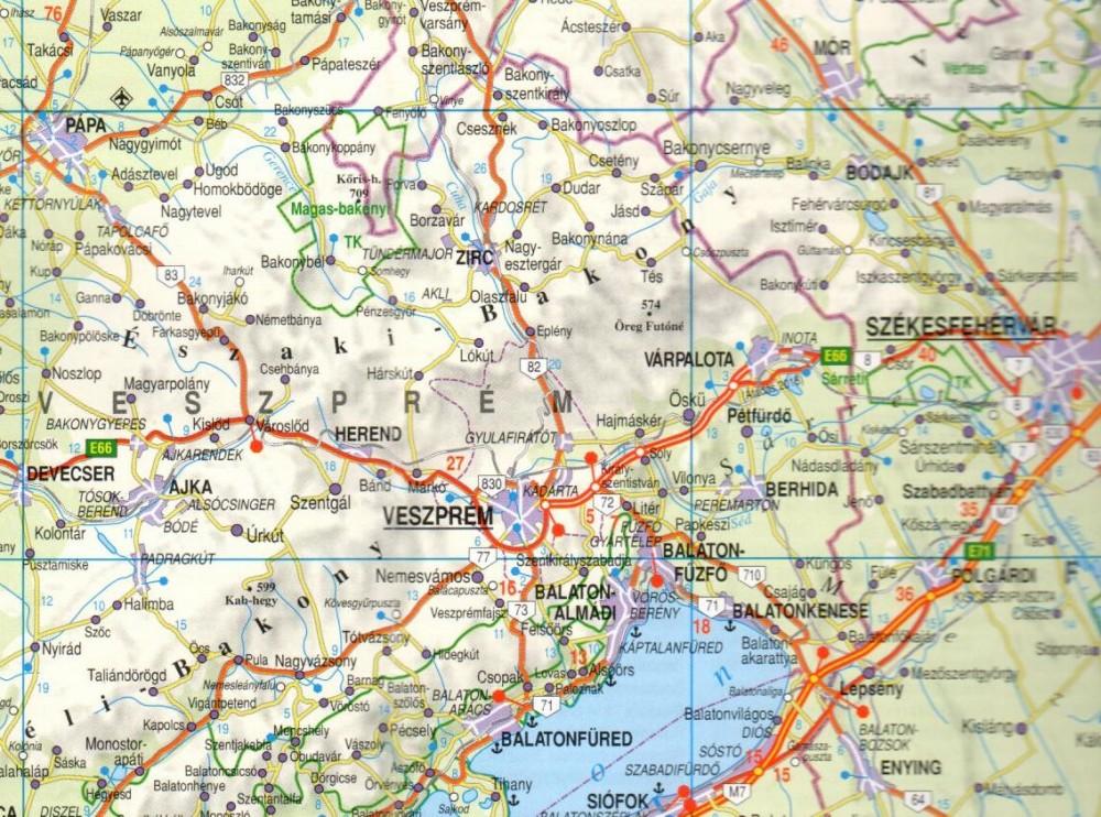 térkép magyarország autós Magyarország térkép, Magyarország autótérkép Nyír Karta 2017 18 1  térkép magyarország autós