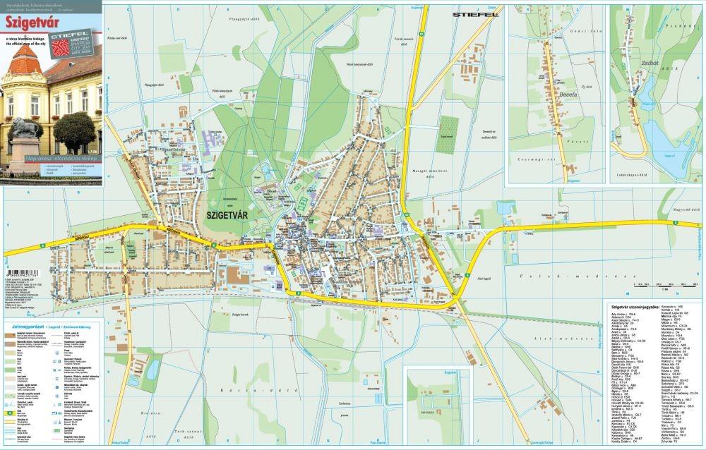 szigetvár térkép Szigetvár térkép Stiefel 2008   Térkép Center Kft. Budai