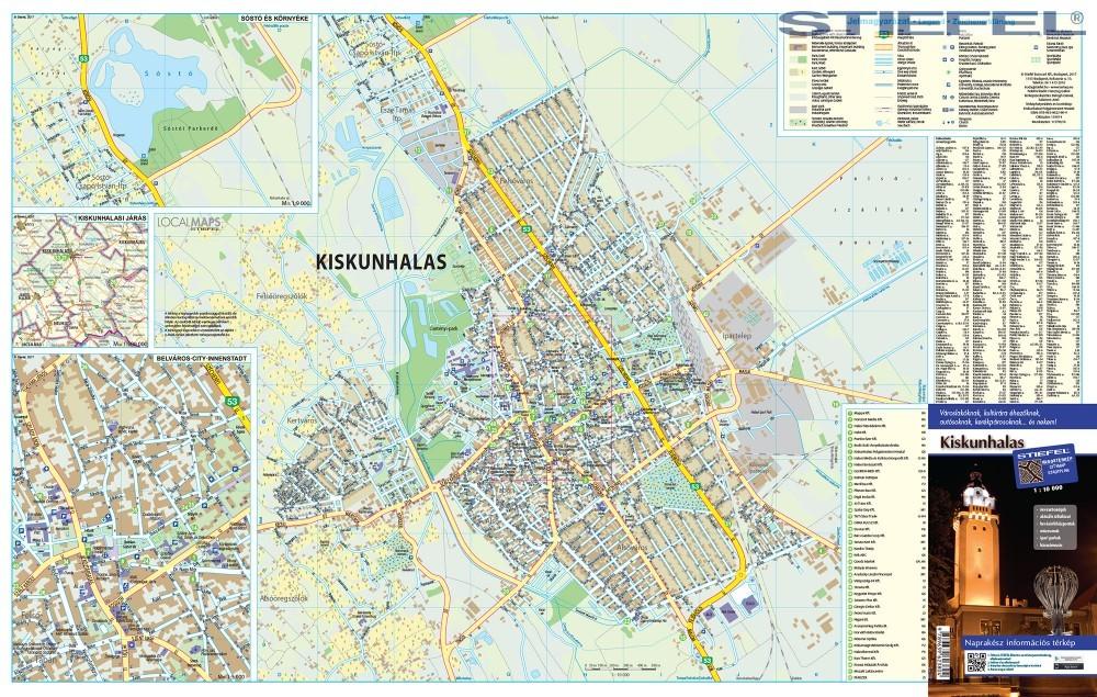kiskunhalas térkép Kiskunhalas térkép 1:10 000 Stiefel 2017   Térkép Center Kft