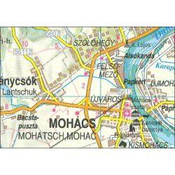 Baranya megye térkép Topográf kisatlasz