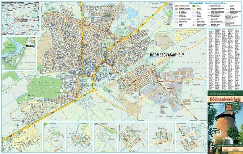 hódmezővásárhely térkép Hódmezővásárhely térkép Stiefel 2009   Térkép Center Kft. Budai