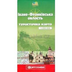 Ivano-Frankivszka oblaszty turista térkép Ukrán Kartografia 1:250 000