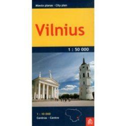 Vilnius térkép Miesto planas 1:50 000