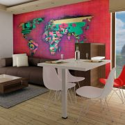 Fotótapéta térkép - Avant-garde World map 400x309