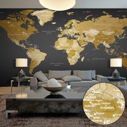 XXL Fotótapéta térkép - World Map: Modern Geography II Kép - Világtérkép 500x280