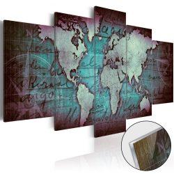 Akrilüveg kép - Acrylic prints – Bronze map II Világtérkép 100x50