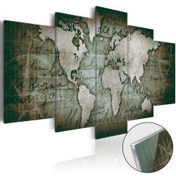 Akrilüveg kép - Acrylic prints – Bronze map III Világtérkép 100x50