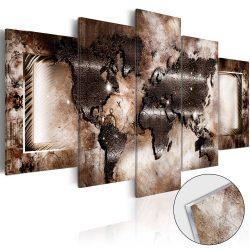Akrilüveg kép - Platinum Map [Glass]  Világtérkép 100x50