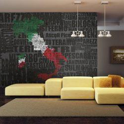Fotótapéta térkép - Text map of Italy Olaszország térkép 450x270