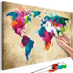 Kifestő Világtérkép, falitérkép - World Map (Colourful) 60x40