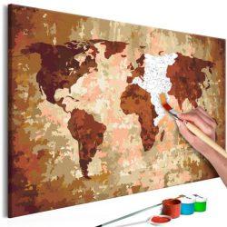Kifestő Világtérkép, falitérkép - World Map (Earth Colours) 60x40