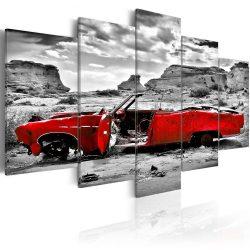 Kép - Red retro autó Colorado Desert - 5 db 100x50