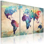Kép - The World festett akvarell 120x60