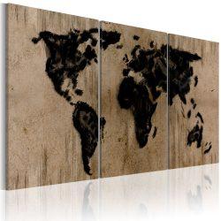 Kép - falitérkép - Tintás map of the World Világtérkép 120x60