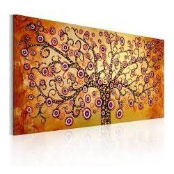 Kézzel festett kép - Peacock tree 120x60