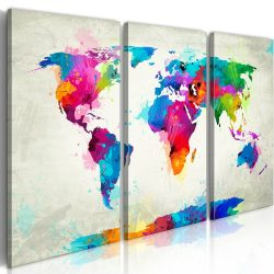 Kép - falitérkép - World Map: An Explosion of Colors Világtérkép 120x80
