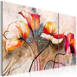 Kézzel festett kép - Poppies lashed by the wind 120x80