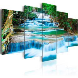Kép - Blue Waterfall in Kanchanaburi, Thailand 100x50