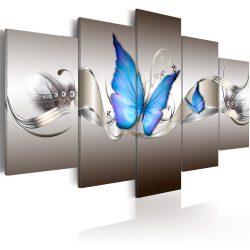 Kép - Blue butterflies 100x50