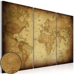 Kép - falitérkép - Old map: triptych Világtérkép 120x80
