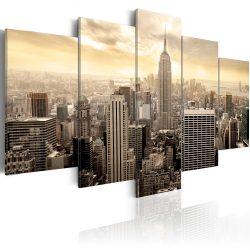 Kép - New York and sunrise 100x50