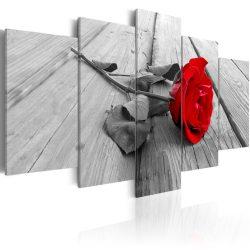 Kép - Rose on wood 100x50