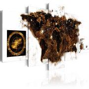 Kép - falitérkép - Brown map Világtérkép 100x50
