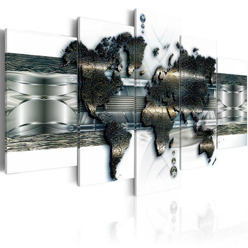 Kép - falitérkép - Metal World Map Világtérkép 100x50