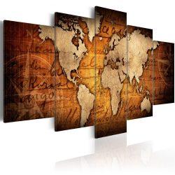 Kép - falitérkép - Amber Map Világtérkép  100x50
