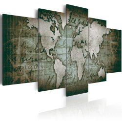 Kép - falitérkép - Emerald Map Világtérkép 100x50