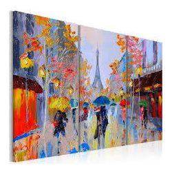 Kézzel festett kép - Rainy Paris 120x80