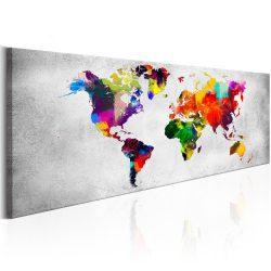 Kép - falitérkép - World Map: Coloured Revolution Világtérkép 150x50