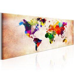 Kép - falitérkép - World Map: Colourful Ramble Világtérkép 150x50