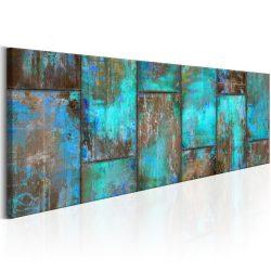 Kép - Metal Mosaic: Blue 150x50
