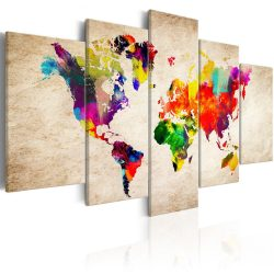 Kép - falitérkép - World Map: Abstract Fantasy Világtérkép 200x100