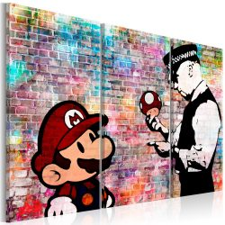 Kép - Rainbow Brick (Banksy) 120x80