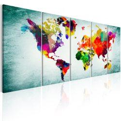 Kép - falitérkép - World Map: Green Vignette Világtérkép 200x80