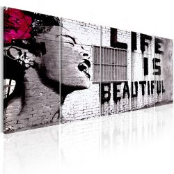 Kép - Banksy: Life is Beautiful 200x80