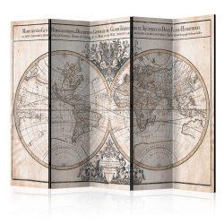 Paraván térkép - Mappe-Monde Geo-Hydrographique [Room Dividers] Világtérkép 225x172