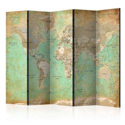 Paraván térkép - Turquoise World Map  [Room Dividers] Világtérkép 225x172