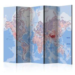 Paraván térkép - Room divider – World map Világtérkép  225x172