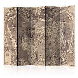Paraván térkép - Room divider – Map ( Amerigo Vespucci ! ) Világtérkép 225x172