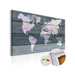 Kép parafán - Journey through the World [Cork Map]  Parafa világtérkép - vászonkép 90x60