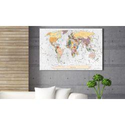 Kép parafán - World's Walls [Cork Map]  Parafa világtérkép - vászonkép 90x60