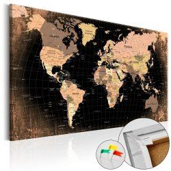 Kép parafán - Planet Earth [Cork Map]  Parafa világtérkép - vászonkép 120x80