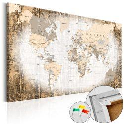 Kép parafán - Enclave of the World [Cork Map]  Parafa világtérkép - vászonkép 120x80