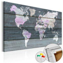 Kép parafán - Journey through the World [Cork Map]  Parafa világtérkép - vászonkép 120x80