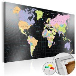 Kép parafán - Human's Kingdom [Cork Map]  Parafa világtérkép - vászonkép 120x80