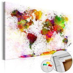 Kép parafán - Artistic World [Cork Map]  Parafa világtérkép - vászonkép 90x60