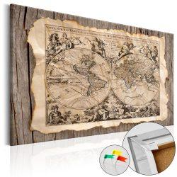 Kép parafán - Map of the Past [Cork Map]  Parafa világtérkép - vászonkép 120x80